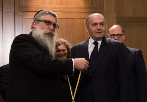Victor Pinchuk was presented with the Metropolitan Andrey Sheptytsky Award for fostering Ukrainian-Jewish relations and advancing  Ukraine's European aspiration