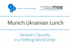 David H. Petraeus and Anders Fogh Rasmussen will discuss Ukraine's Security during the 1st Munich Ukrainian Lunch