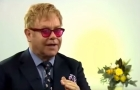 Elton John speaking to the BBC